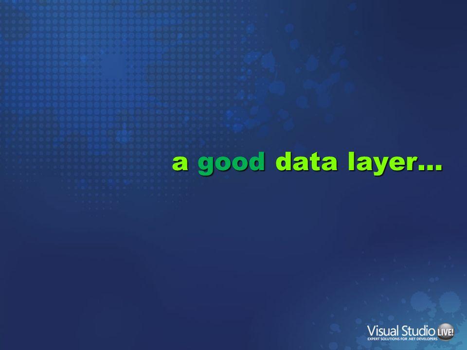 a good data layer…