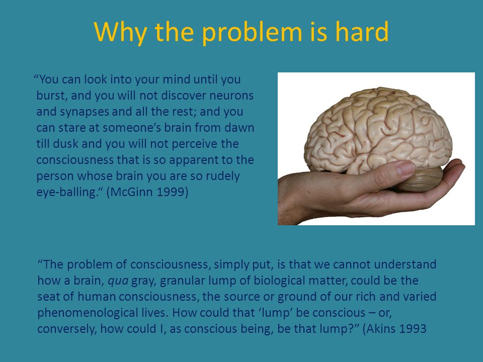 Why the problem is hard