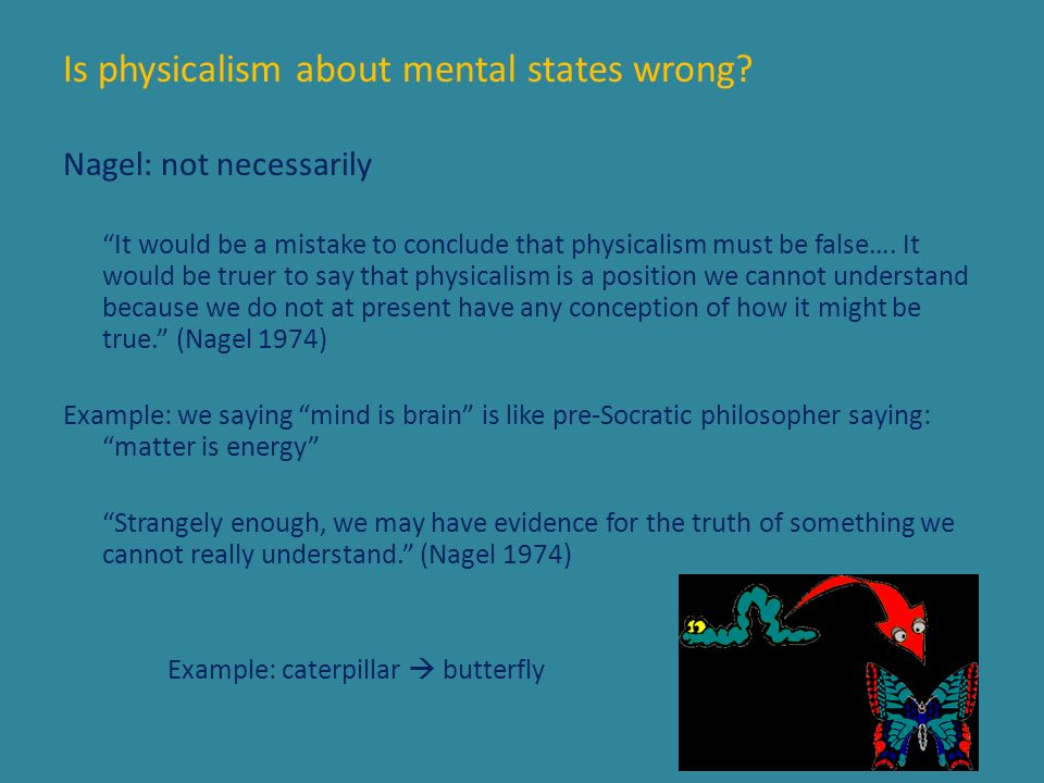 Is physicalism about mental states wrong