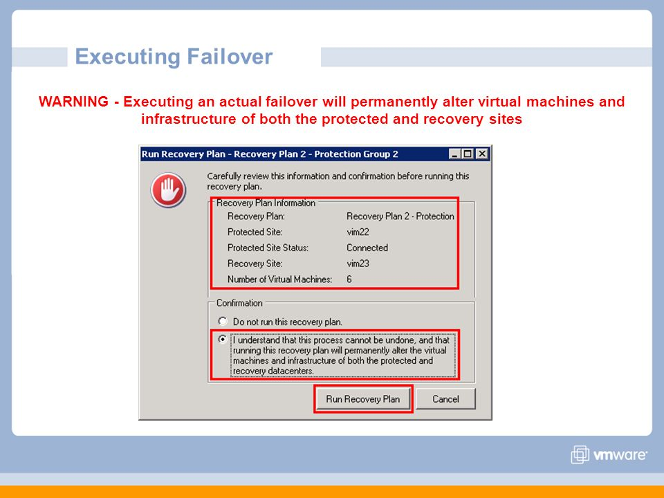 Executing Failover