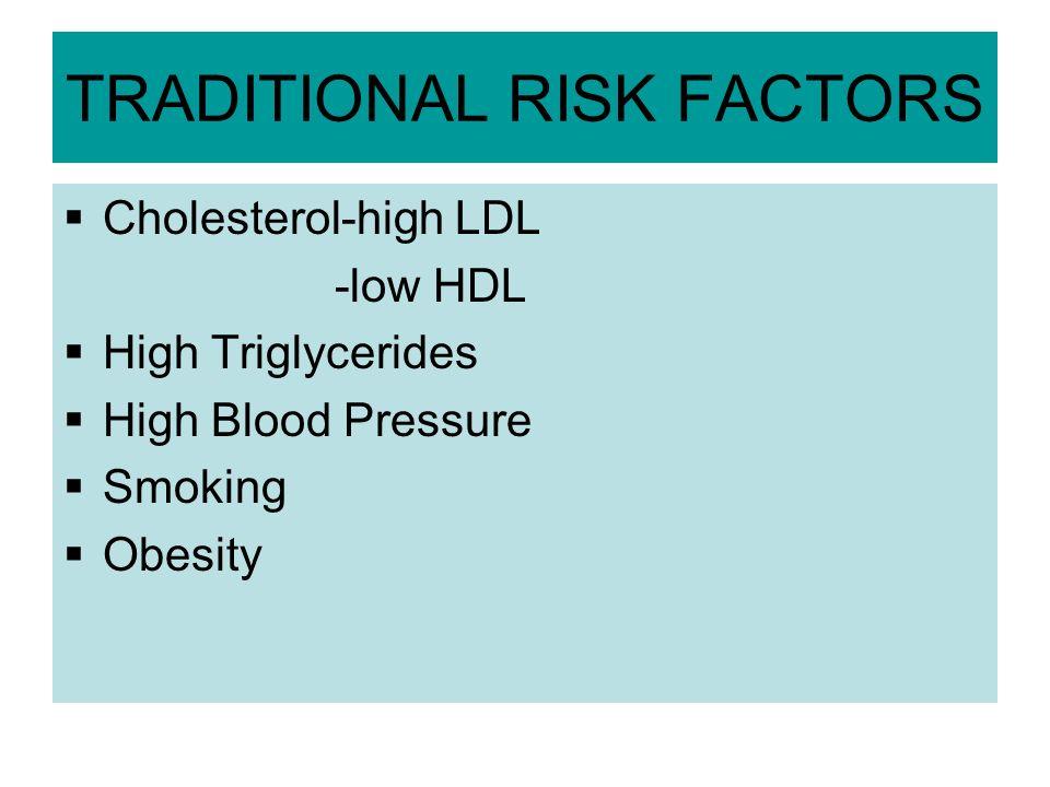 TRADITIONAL RISK FACTORS