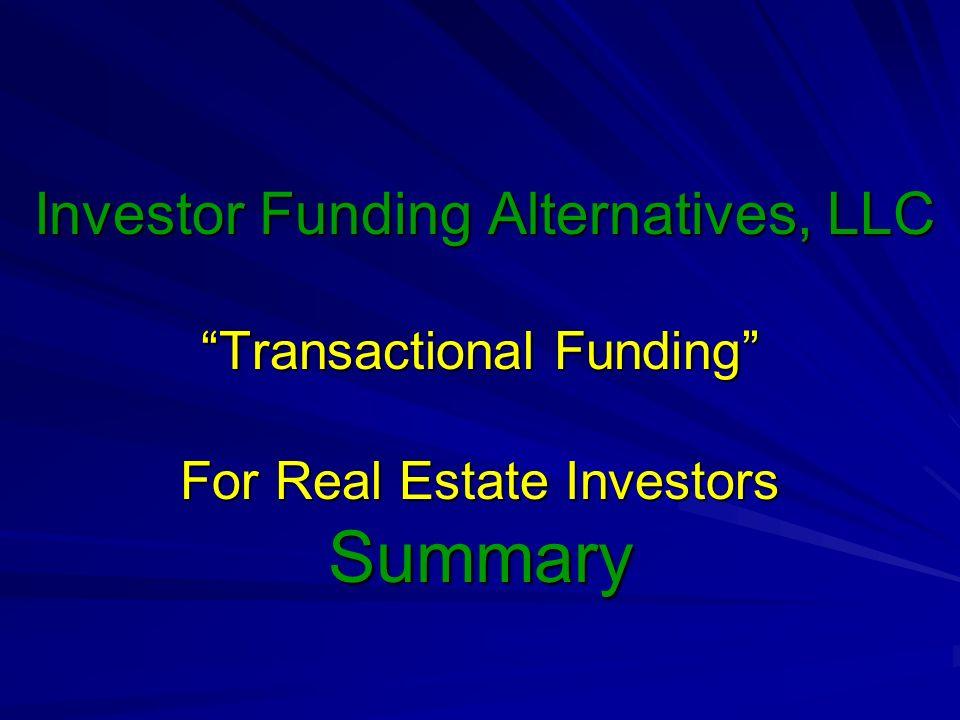Investor Funding Alternatives, LLC