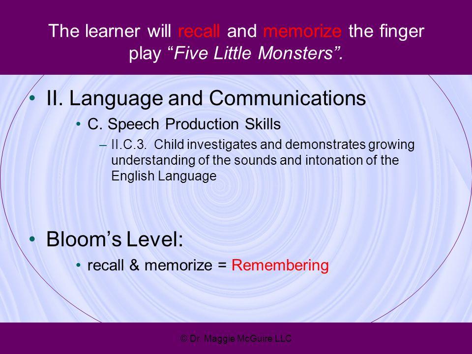 II. Language and Communications