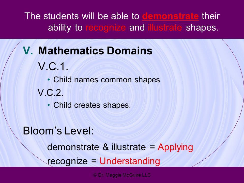 demonstrate & illustrate = Applying