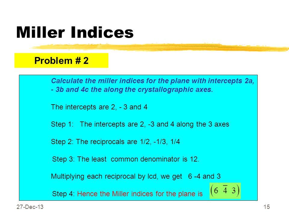 Miller Indices Problem # 2