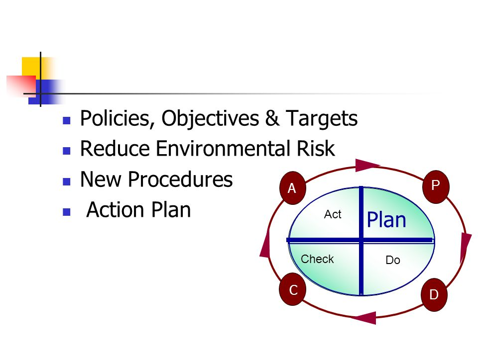 Policies, Objectives & Targets Reduce Environmental Risk