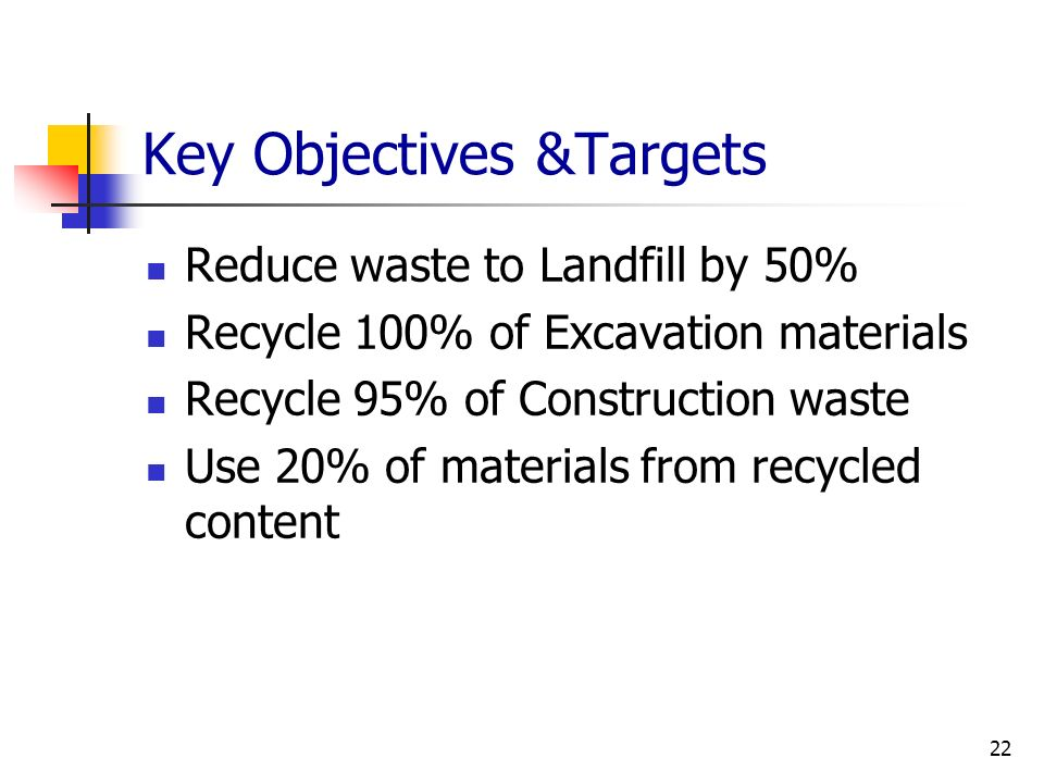 Key Objectives &Targets