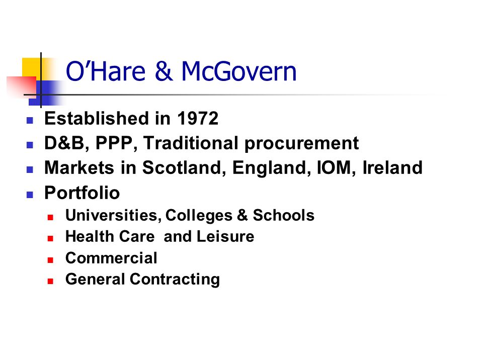 O'Hare & McGovern Established in 1972