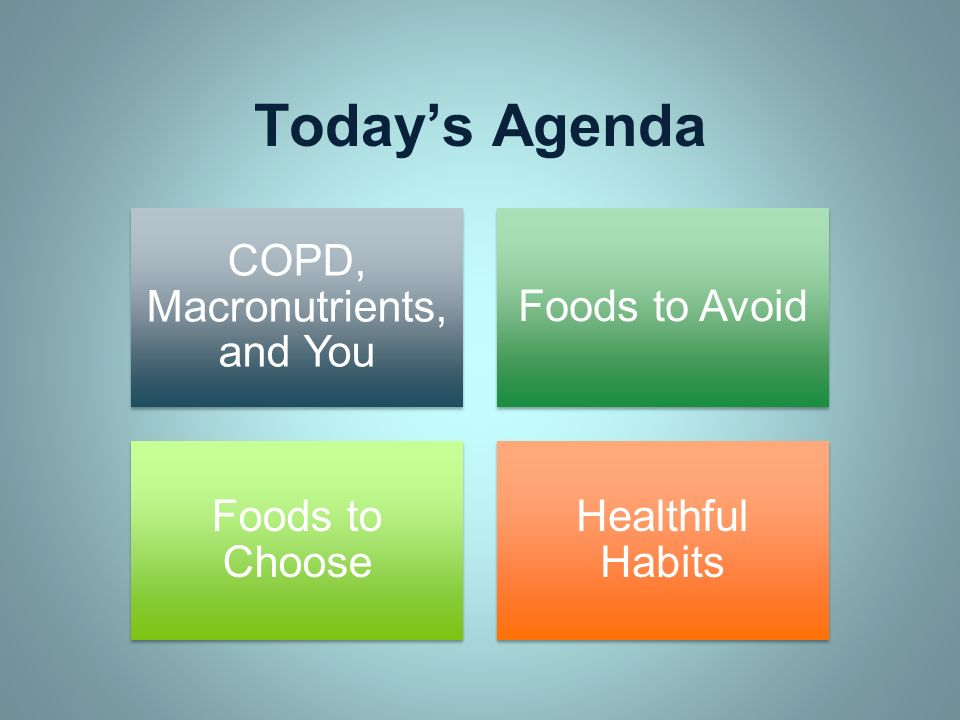 COPD, Macronutrients, and You