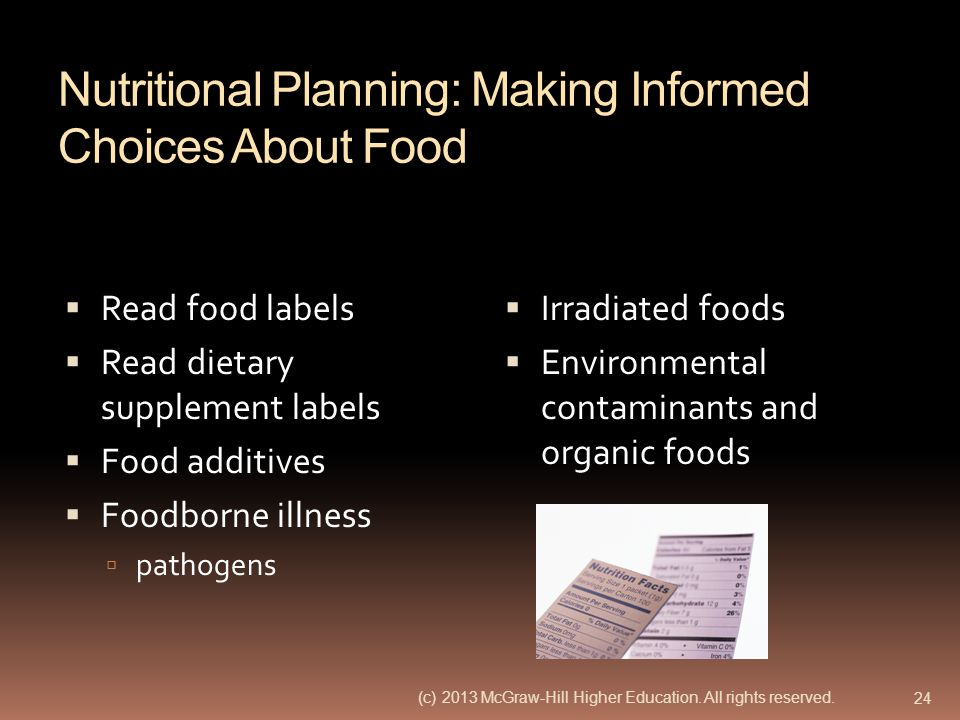 Nutritional Planning: Making Informed Choices About Food