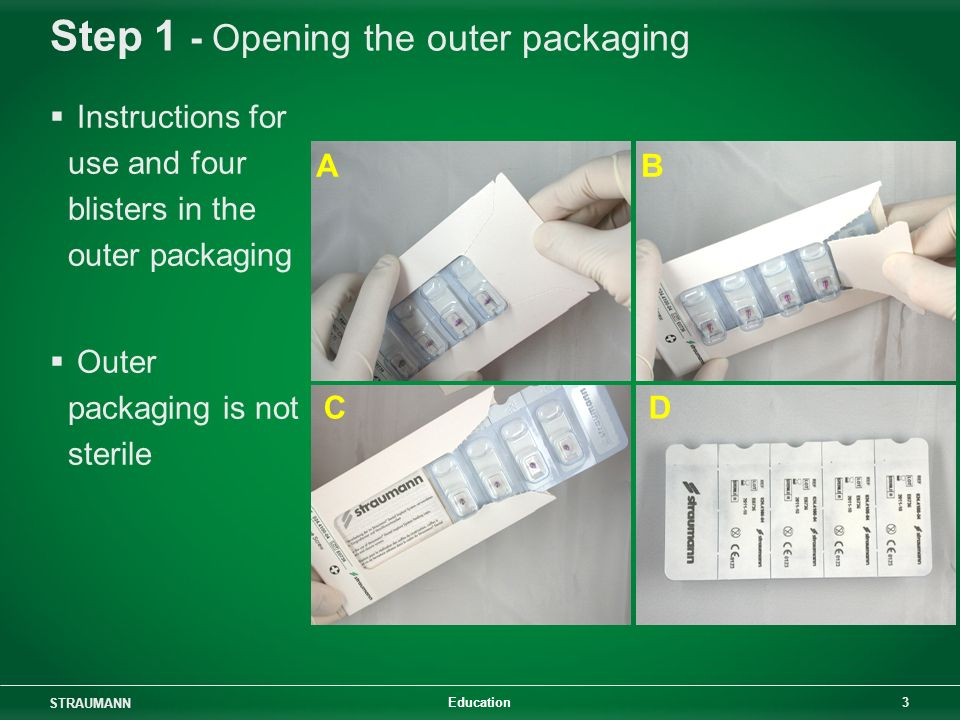 Step 1 - Opening the outer packaging