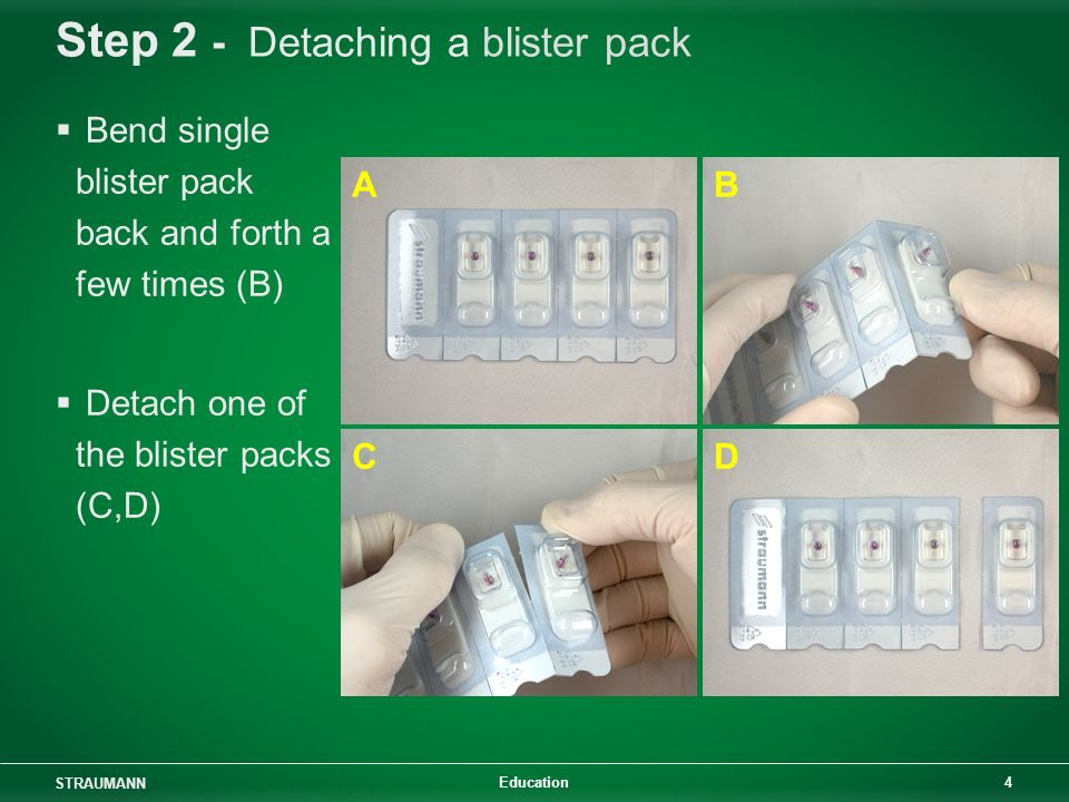Step 2 - Detaching a blister pack