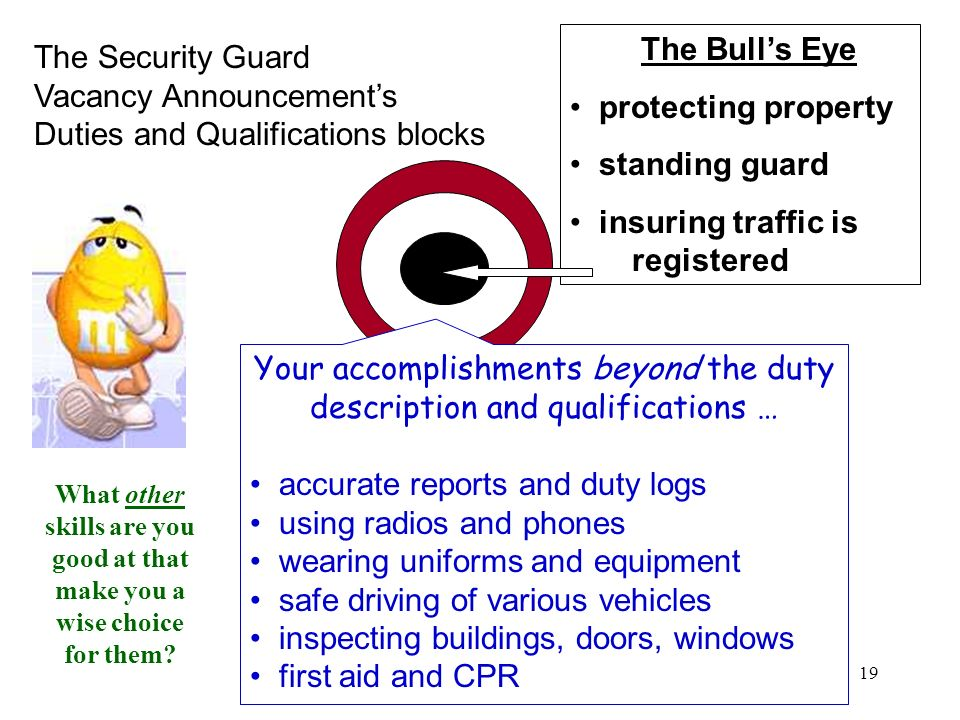 Your accomplishments beyond the duty description and qualifications …