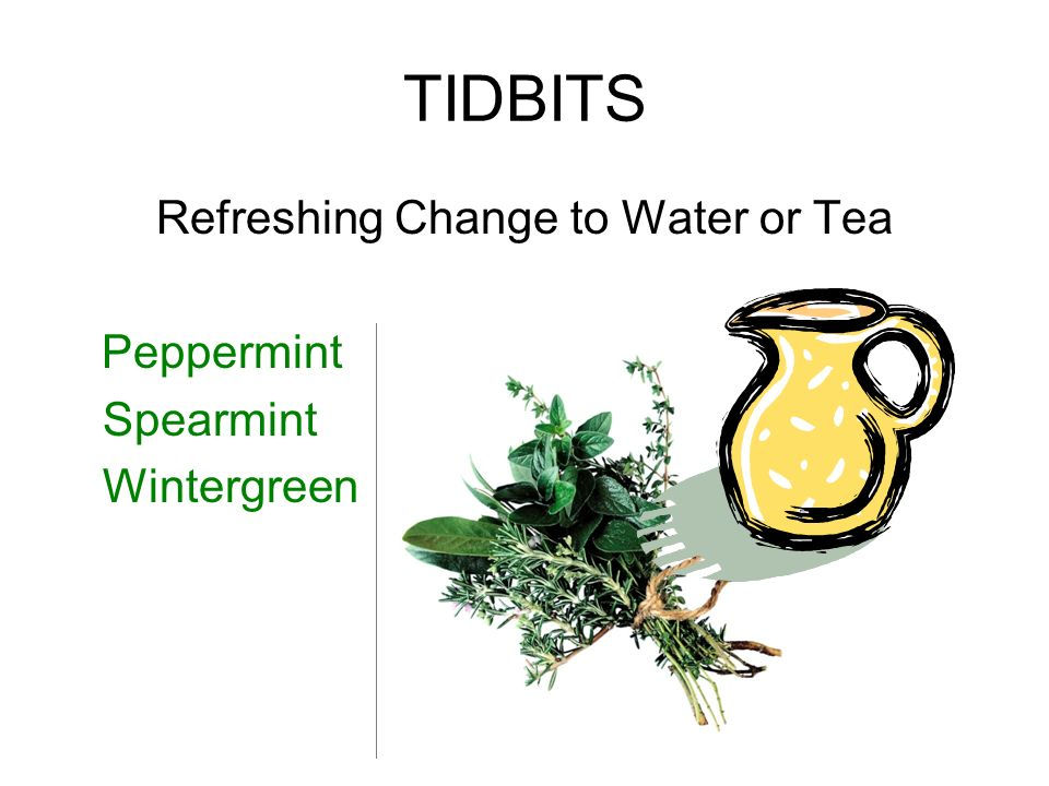 Refreshing Change to Water or Tea