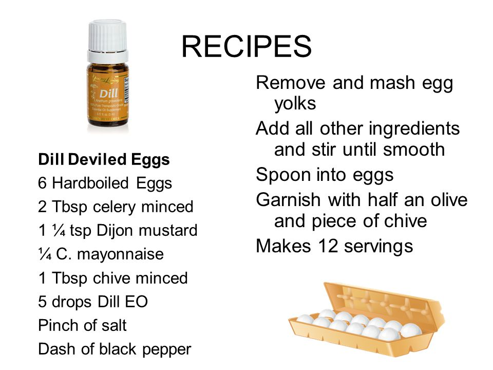 RECIPES Remove and mash egg yolks