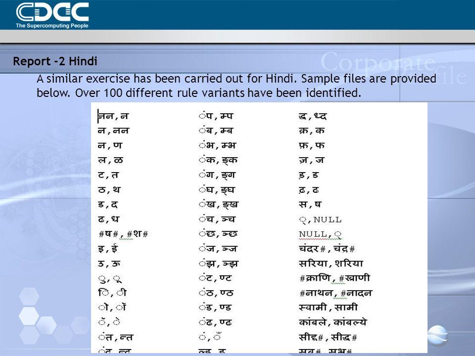 Report -2 Hindi