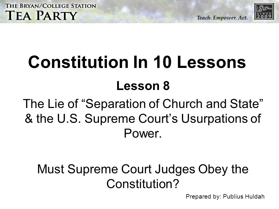 Constitution In 10 Lessons