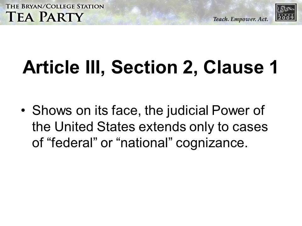 Article III, Section 2, Clause 1