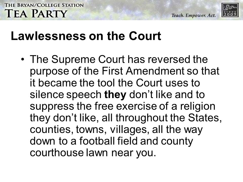 Lawlessness on the Court