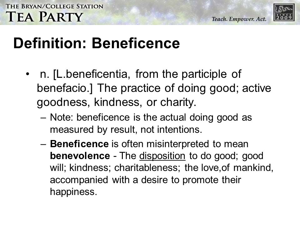 Definition: Beneficence