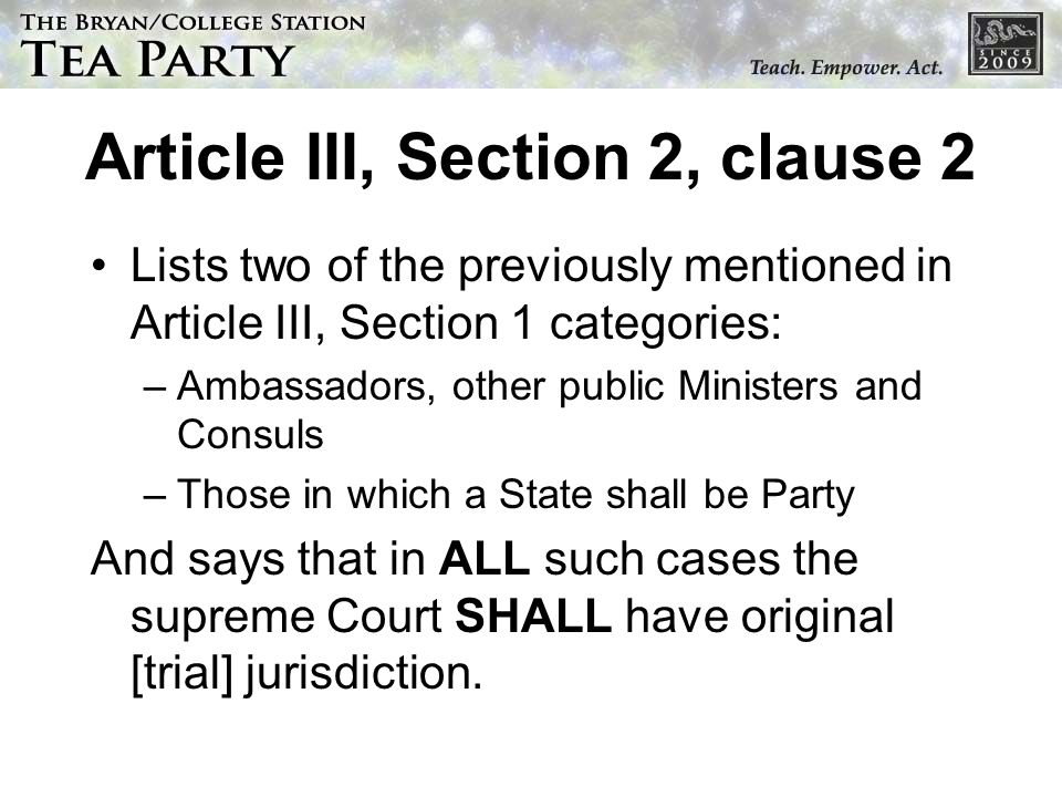 Article III, Section 2, clause 2