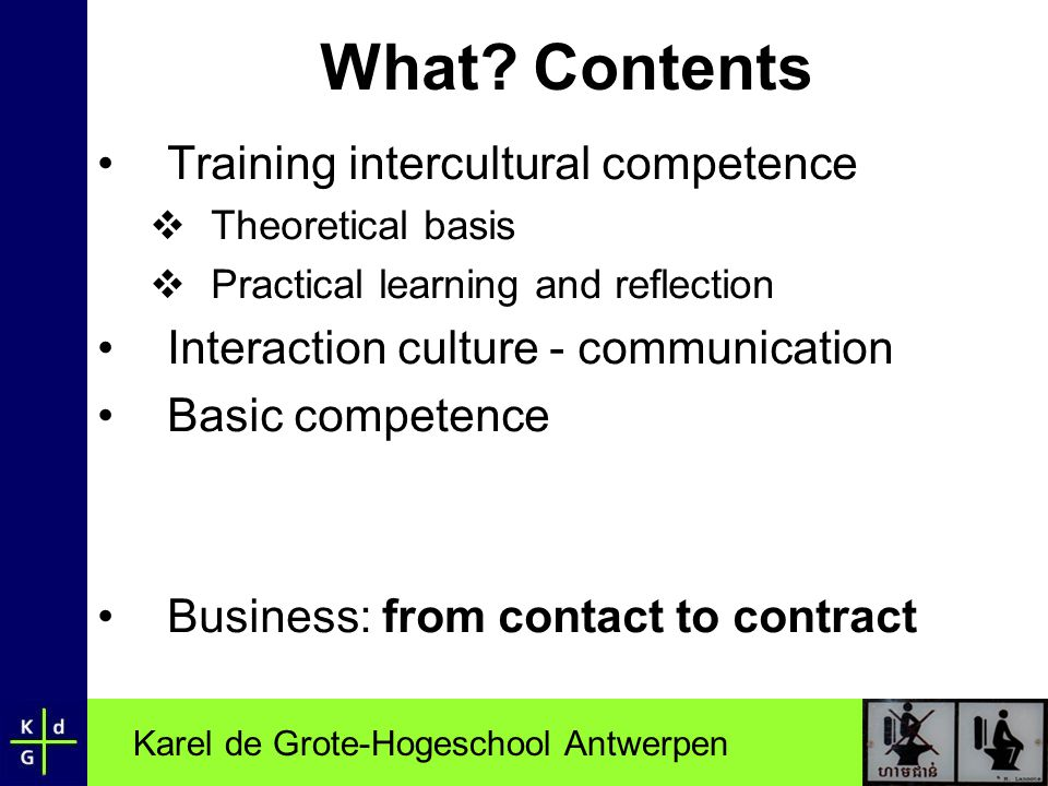 What Contents Training intercultural competence