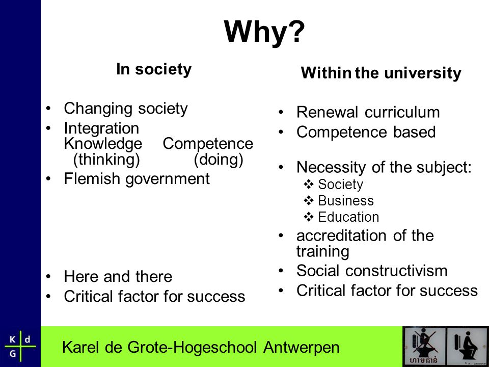 Why In society Within the university Changing society