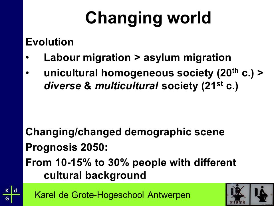 Changing world Evolution Labour migration > asylum migration