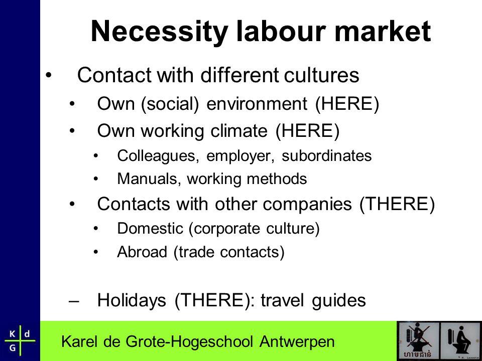 Necessity labour market