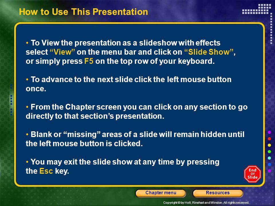 How to Use This Presentation How to Use This Presentation