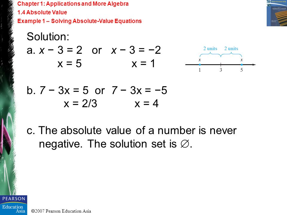 c. The absolute value of a number is never