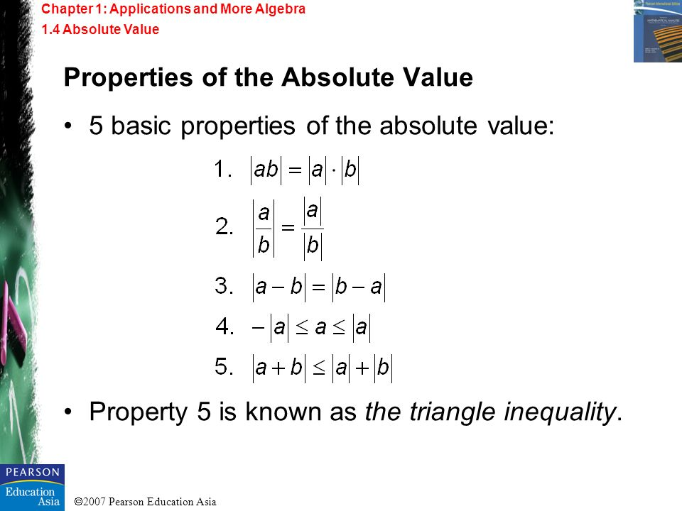 Properties of the Absolute Value