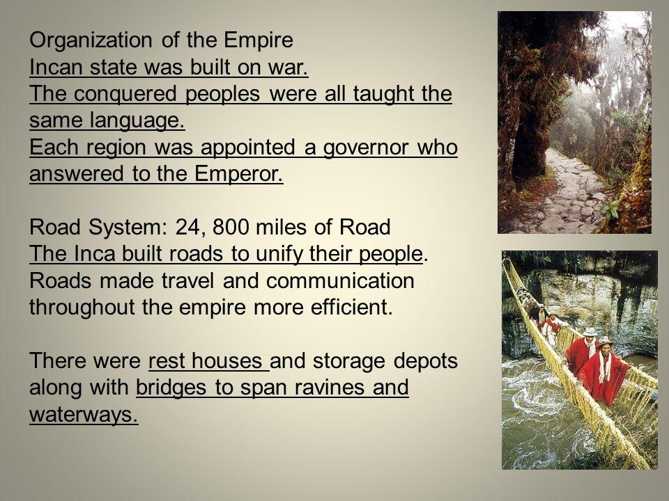 Organization of the Empire