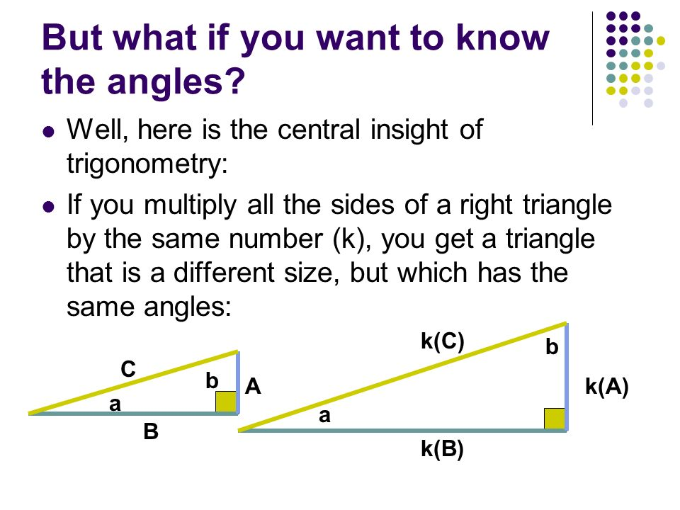 But what if you want to know the angles