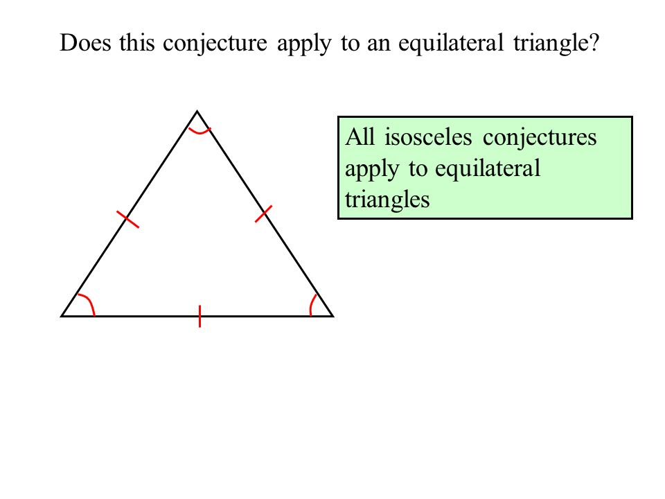 Does this conjecture apply to an equilateral triangle