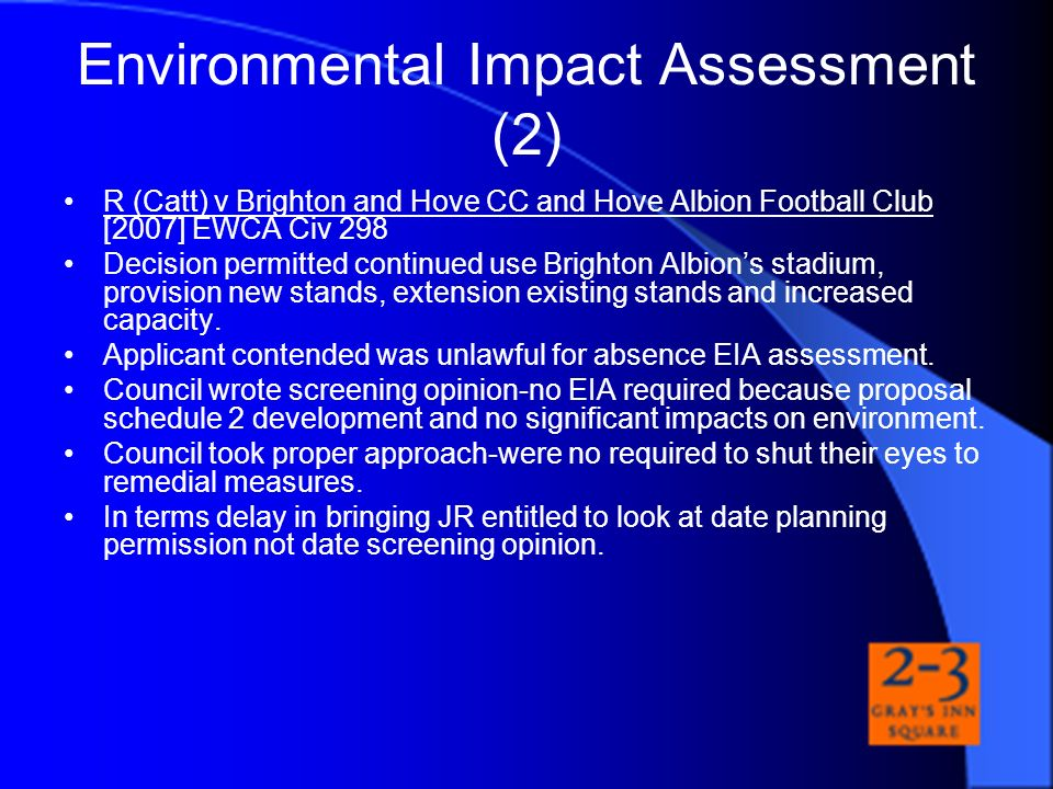 Environmental Impact Assessment (2)
