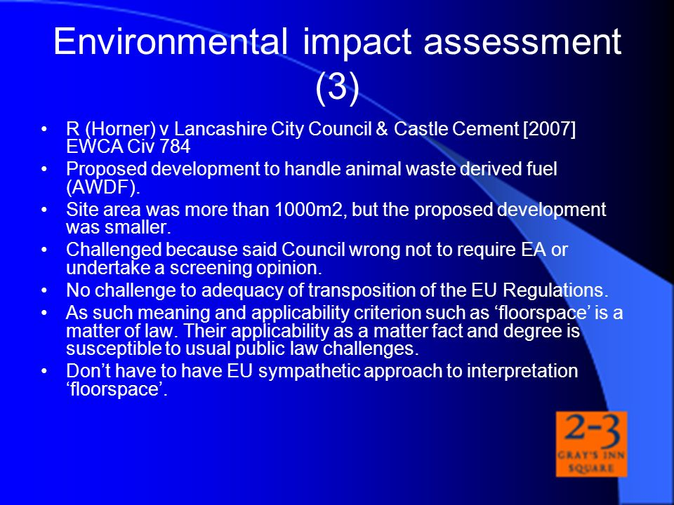 Environmental impact assessment (3)