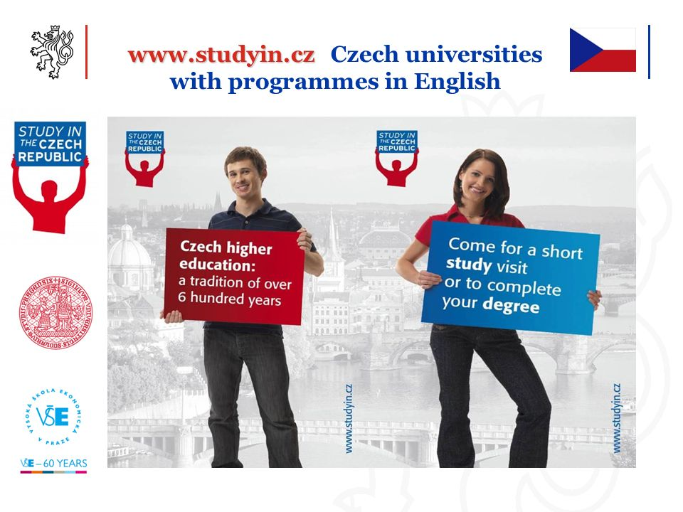 www.studyin.cz Czech universities with programmes in English