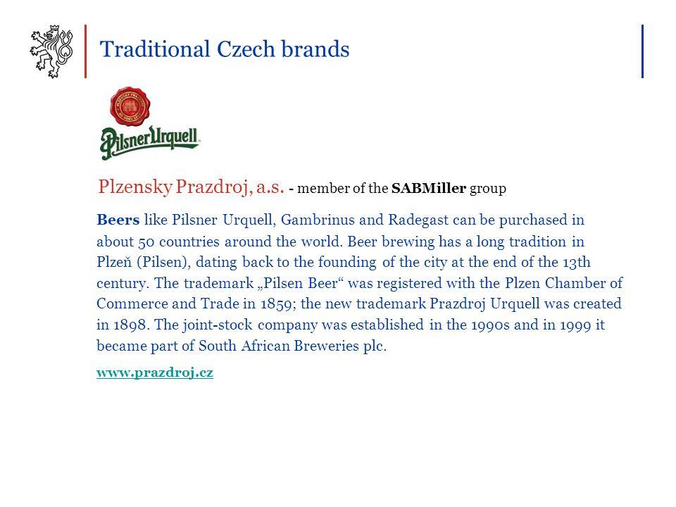 Traditional Czech brands