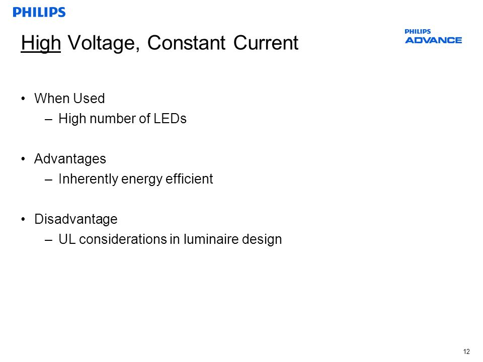 High Voltage, Constant Current
