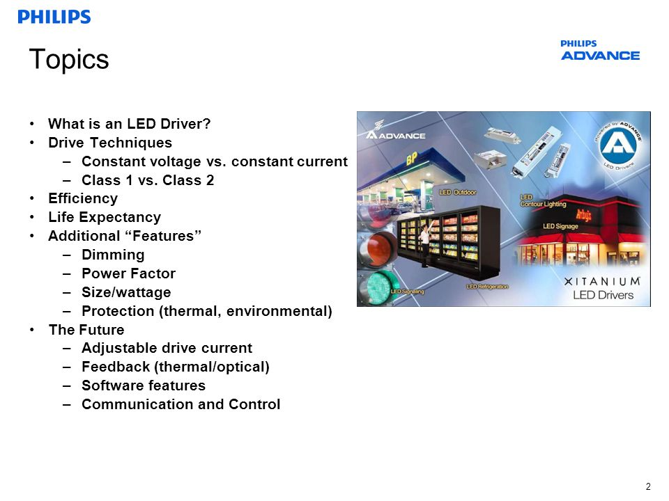Topics What is an LED Driver Drive Techniques