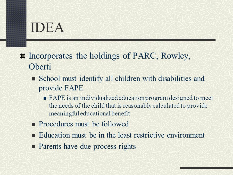 IDEA Incorporates the holdings of PARC, Rowley, Oberti