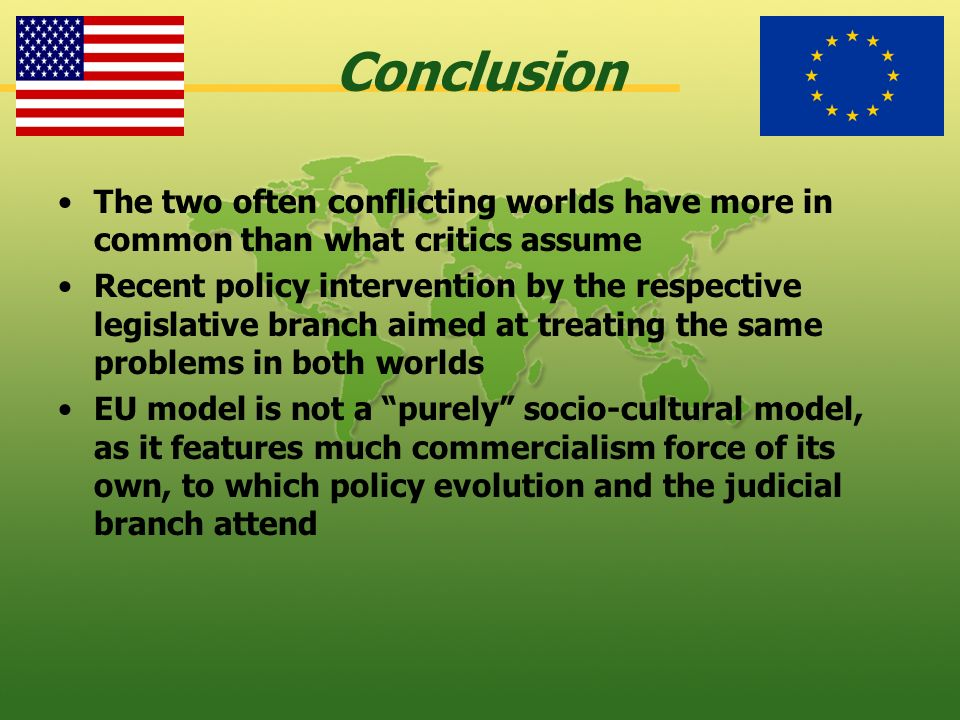 Conclusion The two often conflicting worlds have more in common than what critics assume.