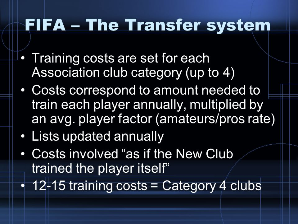 FIFA – The Transfer system