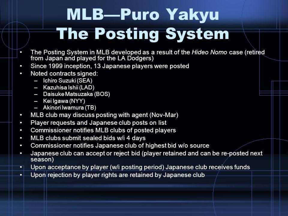 MLB—Puro Yakyu The Posting System