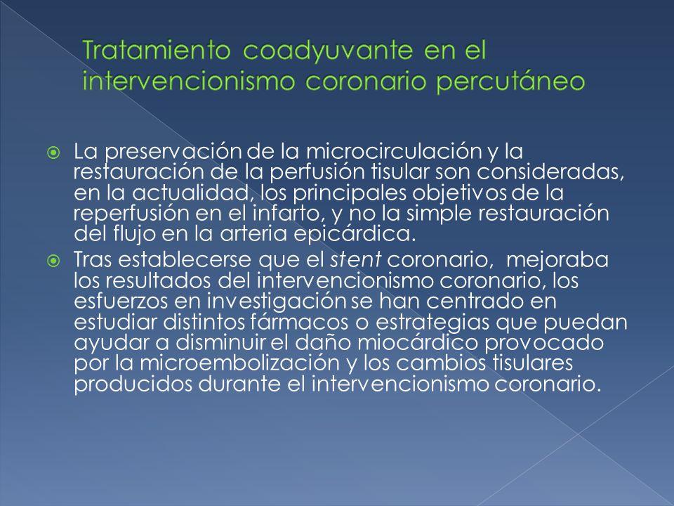 Tratamiento coadyuvante en el intervencionismo coronario percutáneo