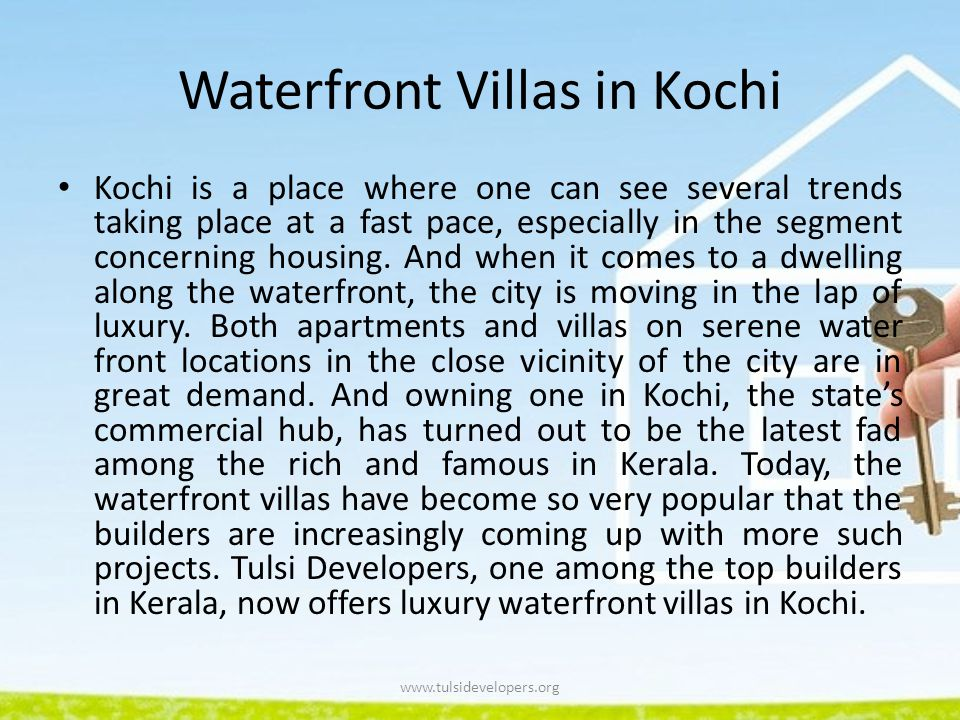 Waterfront Villas in Kochi