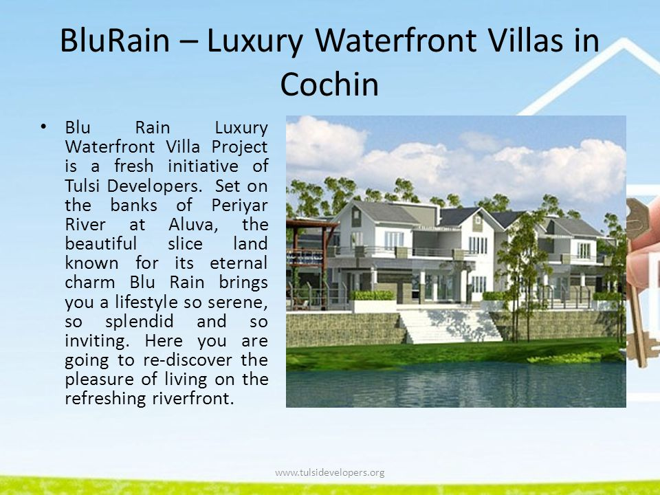 BluRain – Luxury Waterfront Villas in Cochin