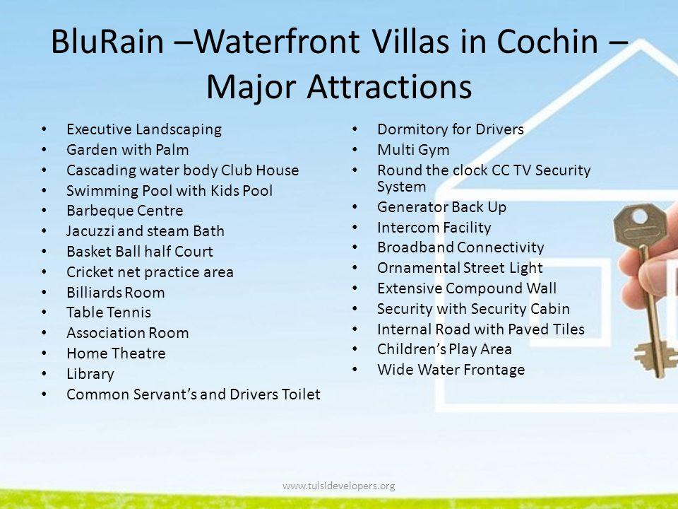 BluRain –Waterfront Villas in Cochin –Major Attractions