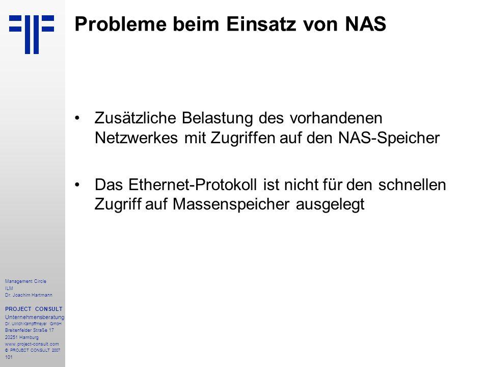 Probleme beim Einsatz von NAS